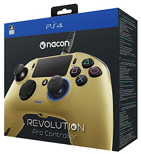 Nacon Revolution Pro Controller - Mando alámbrico, color dorado (PS4)