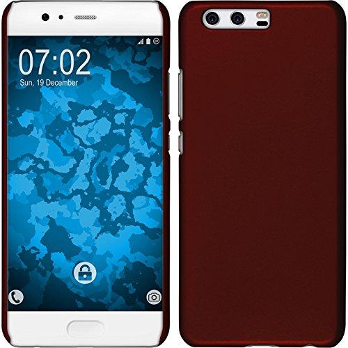 Preisvergleich Produktbild PhoneNatic Case kompatibel mit Huawei P10 Plus - Hülle rot gummiert Hard-case + 2 Schutzfolien