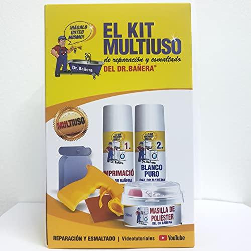 Kit de reparación y esmaltado de bañeras y platos de ducha, pintura para azulejos y sanitarios, esmalte para baño