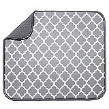 ZXCFTG Alfombrilla absorbente de microfibra reversible para secar platos, 40 x 30 cm, secado rápido, para cocina, accesorios de mesa, lavable a máquina, ahorro de espacio, ligero