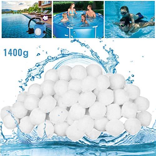 GothicBride Filter Balls 1400g ersetzen 50 kg Filtersand, Filterbälle für Pool, Schwimmbad, Filterpumpe, Aquarium Sandfilter.