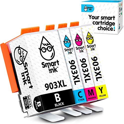 Smart Ink kompatible Tintenpatrone als Ersatz für HP 903 XL 903XL 4 Packung mit Advanced Chip Technology für Printern Officejet 6950 Officejet Pro 6960 6970