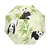 Panda Animal paraguas de viaje para niñas y hombres con apertura automática pequeña a prueba de lluvia 3 paraguas plegable para mujer con protección UV