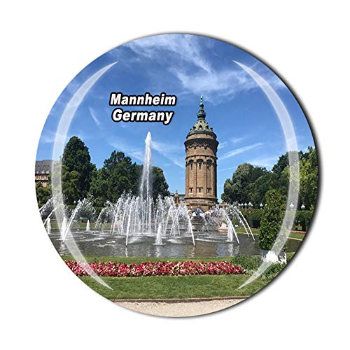 Mannheim Alemania - Imán para nevera con diseño de cristal magnético