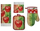 Bright 7 Piece Apple Dish Towel Set by Mainstays
