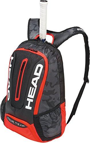 HEAD Tour Team Backpack Tennisschlägertasche, schwarz/rot, Einheitsgröße