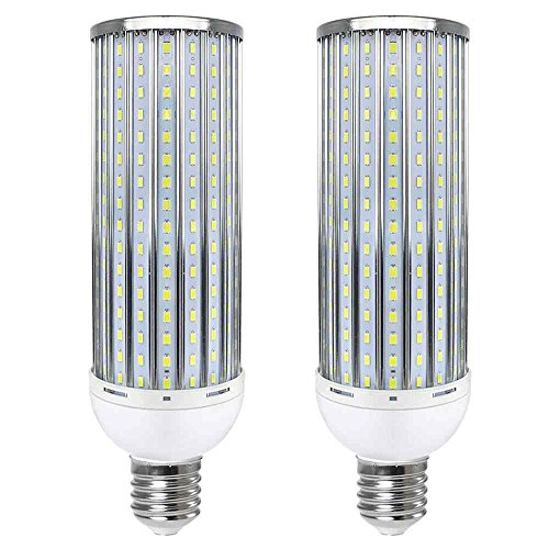 Granvoo 2Pcs E40 80W Anti-Strobe Lampadina mais LED Lega di Alluminio Bianca Freddo 320X5730 SMD AC 140-265V