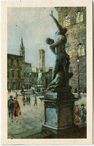 Primi 1900 Firenze - Vista di Piazza Signoria