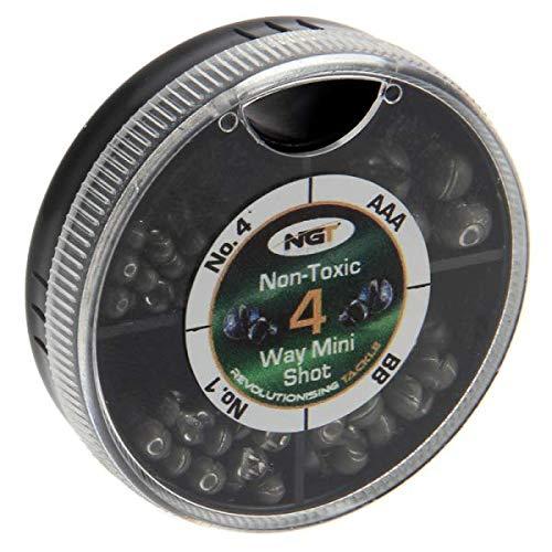 NGT 4 Way Dispenser Non Toxic Fishing Split Shot AAA BB 46