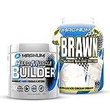 Muscle Builder HMB Formulation & Magnum Brawn Protein Stack   Gluten Free   Cold Ultrafiltration Whey Protein
