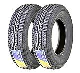 2 New Premium FREE COUNTRY Trailer Tires ST 205/75R14 8PR Load Range D w/Scuff Guard