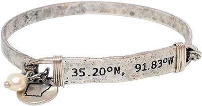 Loaded Lids Latitude and Longitude GPS Coordinates State Bracelet