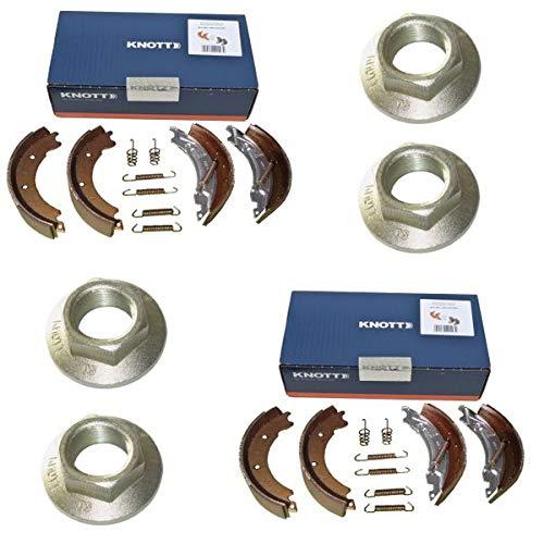 FKAnhängerteile 2 x Knott Bremsbacken 200x50 Knott Nr: 47276 für 2 Achsen + 4 x Flanschmutter