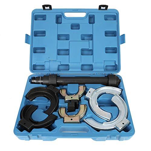 Sfeomi Federspanner mit 3 Paar Backen Mc Pherson Federbein System Federspanner 1000 kg Federspanner Kit Set Universal Werkzeug (3 Paar Backen)