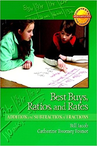 Best Buys Ratios And Rates Addition And Subtraction Of Fractions Contexts For Learning Mathematics Grades 4 6 Investigating Fractions Decimals And Percents