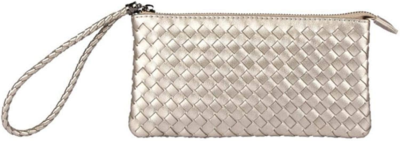 Girls Purse Women's Wallet,Ladies Hand Bag LargeVolume Woven Wallet 22  2  12cm (color   A)