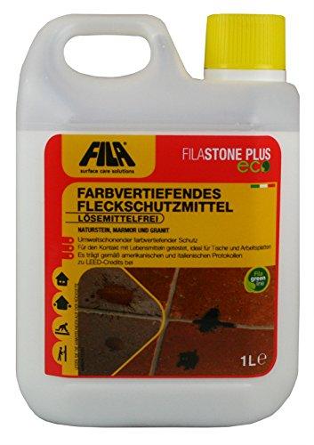 Fila STONEPLUS ECO Farbvertiefendes Fleckschutzmittel für Marmor, Granit, Naturstein, Feinsteinzeug Liter für bis zu 40 qm