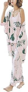 [ネモフィオール] パジャマ ルームウェア ナイトウェア 上下 3点セット 長袖 花柄 レディース