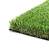 ColourTree 5' x 6.5' (32.5 Square Ft) 1.78' Grass Height TGB 4 Tones Artificial Turf Faux Grass Mat Lawn Rug - Premium Commercial Grade Realistic Synthetic - For Outdoor Indoor (Available Custom Size)