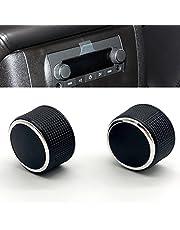 KERMAN 1 Pair Rear Radio Audio Volume Control Knob Dial Tuner for 07-13 Chevy Tahoe Chevrolet Silverado GMC Acadia Sierra Denali Yukon GM 22912547 Radio Repair Kit Replacement Button.