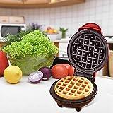 ZHAOZC Macchina per Waffle Maker - Rivestimento Antiaderente - Mini Waffle Maker Machine per Singoli Waffle, Paninis, Pranzo, Snack o Altro sulla Colazione Go