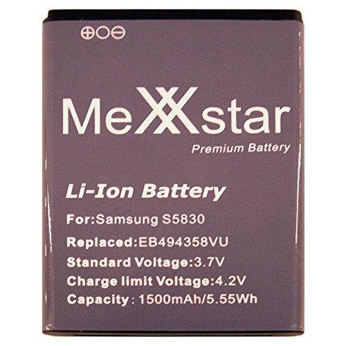 PolarCell Batería para Samsung Galaxy Ace, s Mini, S5830 (1500mAh / Li-Ion) + trapo de microfibra