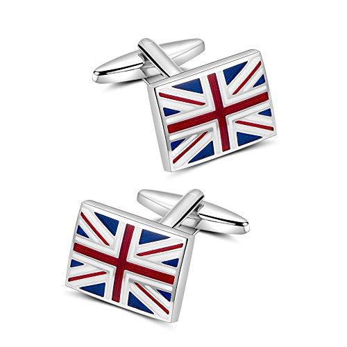 Manschettenknöpfe Herren, Mr.Van Flagge des Vereinigten Königreichs Cufflinks für Hochzeit Festival Geburtstag Geschenk