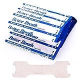 Better Breath Nasenpflaster für Schnarchen, Schnarchstopps für besseren Schlaf, ideal für eine bessere Atmung bei sportlichen Aktivitäten. Farbe: hautfarbe, 66 * 19mm, 50 Stck