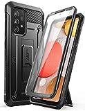 SupHülle Outdoor Hülle für Samsung Galaxy A52 4G/5G Handyhülle Bumper Hülle 360 Grad Schutzhülle Cover [Unicorn Beetle Pro] mit Integriertem Bildschirmschutz (Schwarz)