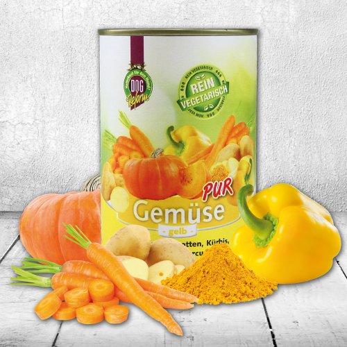 Schecker DOGREFORM Gemüse pur - gelb rein vegetarisch ideal zum Barfen/Schonkost 3 x 410g
