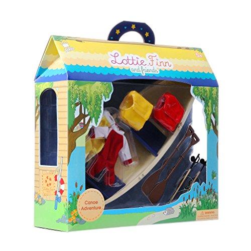 Lottie Juego de muñecas Brownie Canoa Adventure Set