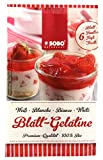 Gelatina In Fogli Biologica '6 Fogli x 10g' SOBO | Fogli Di Gelatina Bio Per Dolci - Fogli Gelatina Alimentare Biologica