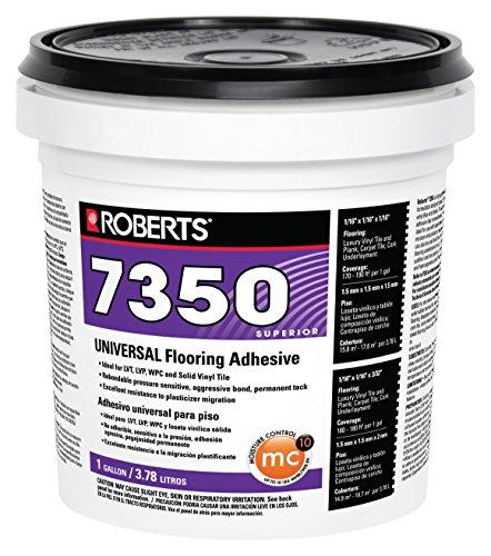 ROBERTS 7350-1 Flooring Adhesive, 1 gallon, Off white