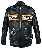 Leatherly Chaqueta de Hombre Bill Goldberg Negro Motociclista Estilo Moto...