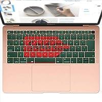 igsticker MacBook Air 13inch 2018 専用 キーボード用スキンシール キートップ ステッカー A1932 Apple マックブック エア ノートパソコン アクセサリー 保護 000873 ユニーク 黒板 イラスト