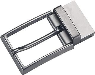 Lovoski Classic Reversible Mens Durable Metal Alloy Antique Belt Buckle Single Prong