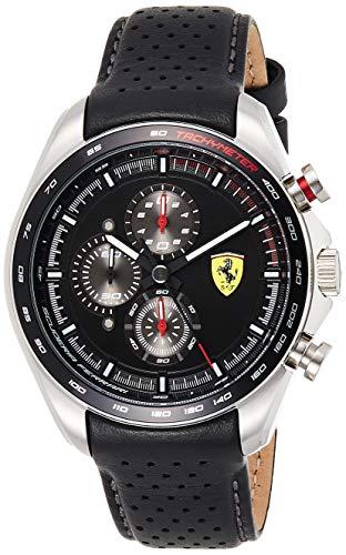 Scuderia Ferrari Reloj Analógico para Hombre de Cuarzo con Correa en Cuero 0830648