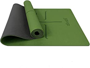 ATIVAFIT Non Slip TPE Yoga Mat Exercise & Workout Mat with Carrying Strap Perfect for Yoga Exercise, Extra Large  - 72x23....