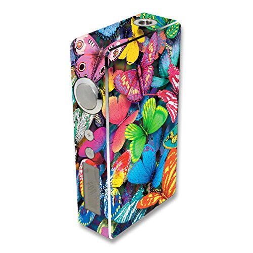 MightySkins Skin Compatible with Sigelei 100W Plus / 150W – Butterfly Party | Protective, Durable, and Unique Vinyl Decal wrap Cover | Easy to Apply, Remove, and Change Styles | Made in The USA
