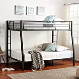 DANGRUUT Upgraded Version Thicken Metal Bunk Beds, Best Industrial Bunk Bed, Heavy Duty Bed Frame with Side Ladder and Safety Rails for Kids Girls Boys, Teens and Adults (Full XL Over Queen)