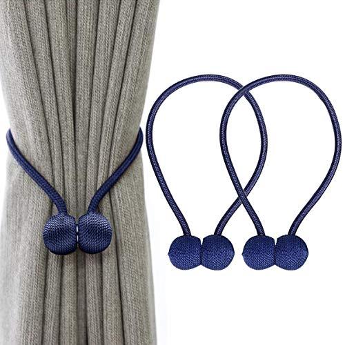 IHClink Magnetische Raffhalter zum Anklemmen von für Vorhänge, Krawatte Band Home Office Dekorative Vorhänge Weben Holdbacks Halter 2 Stück Blau (EU patent 004522746-0001) …