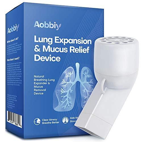 Aobbiy Lung Expansion, Mucus Relief Device, Hand-Held Breathing Trainers - OPEP Therapy, Drug-Free - Helps Open Airways, Remove Mucus Effectively. Stronger & Healthier Lungs and Airway, Easy to Use