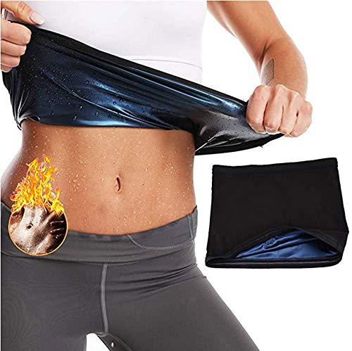 Tueenhuge Waist Trimmer for Women, Hot Body Shaper Sauna Slimming Belt Sweat Band Workout Trainer, Neoprene-Free Waist Cincher, Tummy Control Shapewear