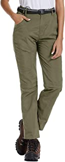 Women's Outdoor Anytime Quick Dry Cargo Pants Convertible Hiking Camping Fishing Zip Off Stretch Trousers