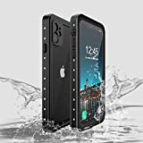 Compatible iPhone 11 Pro Case Waterproof Swimming for Apple 11 Pro 5.8 inch Phone Cases Shockproof Silicone with Screen Protector Full Body Rugged Armor Dustproof Snowproof Protective Cover Black