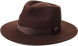Olney Crushable Pure Fur Felt Fedora Hat Medium 56-57cm , Olive