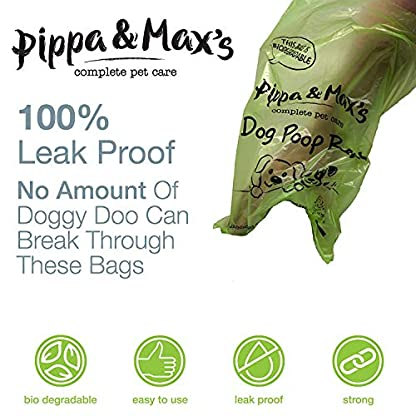 Pippa & Max Dog Poo Bags Biodegradable (300) - Extra Strong Eco Doggy Walking Poop Bags 6