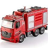 Échelle de jet d'eau détachable robuste pour enfant, modèle camion de pompiers, puzzle de démontage et d'assemblage pour garçon, jouet durable (Taille : échelle de pompier)