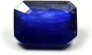 GemsOnClick Zafiro Azul Natural de 4 Quilates, Corte Esmeralda, Piedra Natal de septiembre, Precio al por Mayor