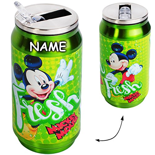 alles-meine.de GmbH Edelstahl / Thermo - Trinkflasche / Sportflasche -  Disney - Mickey Mouse  - incl. Name - Thermotrinkflasche / Isolierflasche - 250 ml - für Kinder - 0,25 L..
